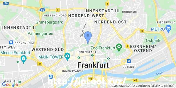 IP=3.127.255.255, Zoom=13, Lattitude=50.1188, Longitude=8.6843, City=Germany (DE)/Frankfurt am Main